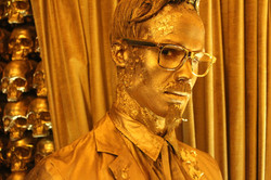 Gold Body painting, custom wig, and custom suit painting_