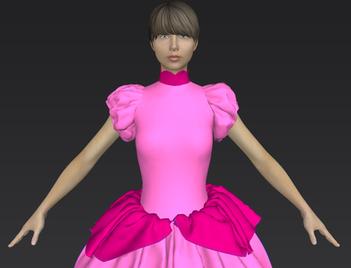 Princess Peach 3D outfit