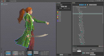 Bone animation rigging