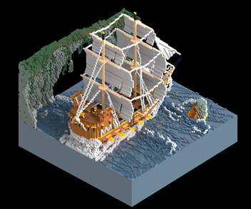 Voxel Ship - Day
