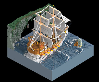 Voxel Ship - Day