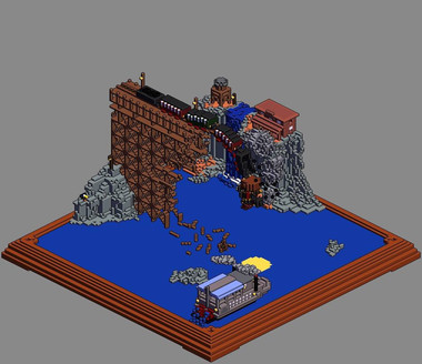 'Habbo' render of Voxel scene