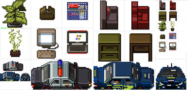 Pixel art-works