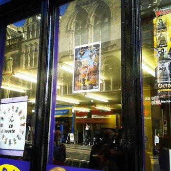 G.O.V poster in a Newcastle window