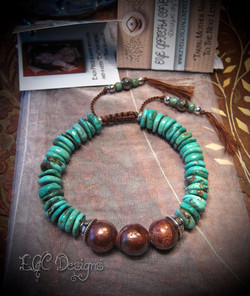 Turquoise with Brown Edison Pearls