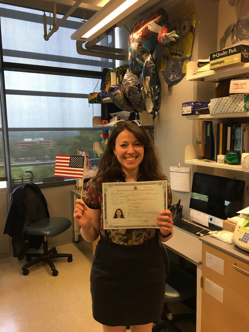 Anna K is a US citizen!