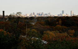 View of Boston from Campus