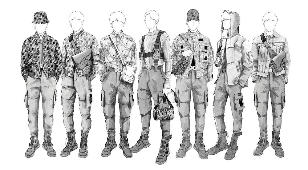 BTS Stage Wear Wardrobe Designed by Kim Jones / Dior Men for 'Love Yourself: Speak Yourself'  Worldwide Stadium Tour 2019