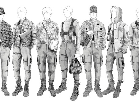 First Look at BTS Worldwide Tour 2019 Wardrobe Designed By Kim Jones / Dior Men