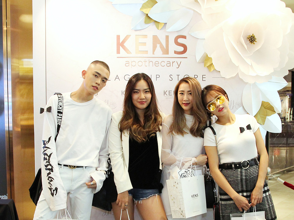 Brian See, Natalie Saw, Daphne Charice and Kittie Yiyi attending KENS Apothecary Flagship Store Launch at the Gardens Mall Kuala Lumpur