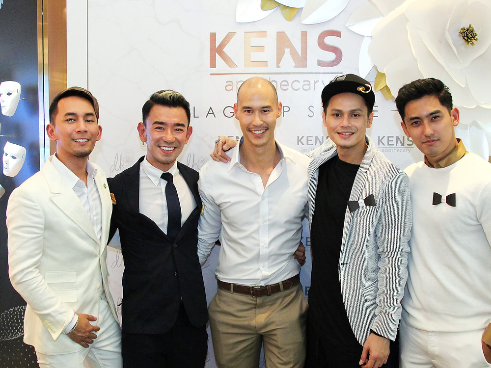 Andre Amir, founder Ken Lim, Hubert Hoi, Ryzal Jaafar and Faiz Haq at KENS Apothecary Flagship Store Launch at the Gardens Mall Kuala Lumpur