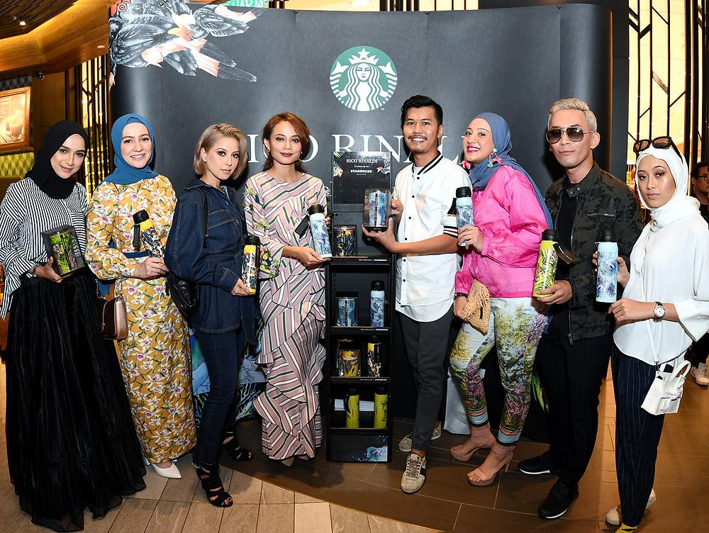Farahanim Razak, Nadia Annuar, Sarah Intan, Rico Rinaldi, Fatiya Latiff, Andre Amir. Syoba Ahmad, Starbucks Malaysia, Four Seasons Place