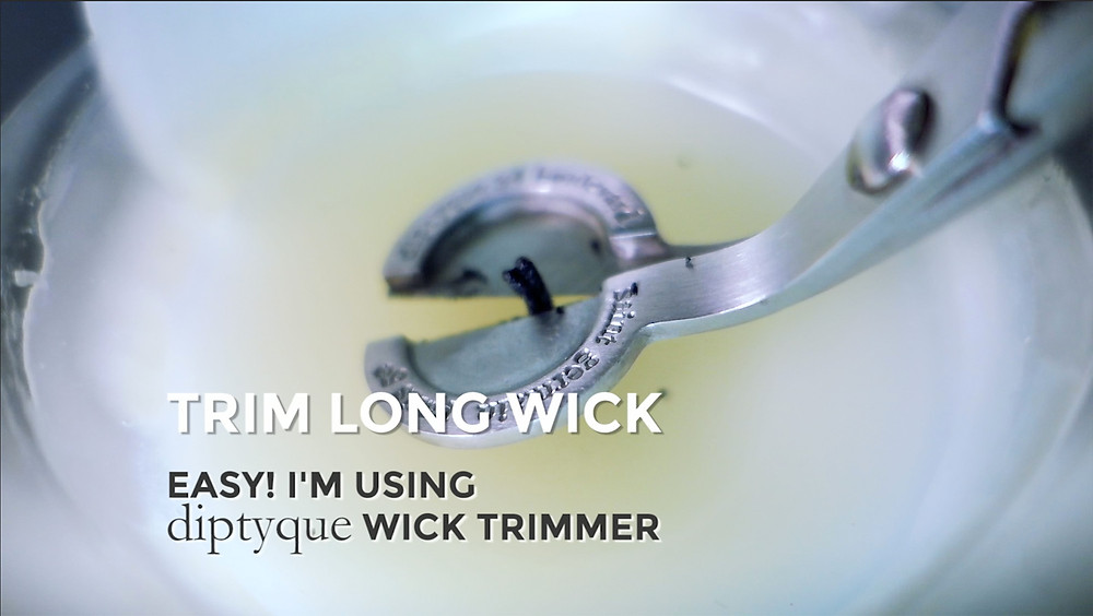 Trim Your Candle Wick - How To Avoid Black Smoke Stain Diptyque Wick Trimmer