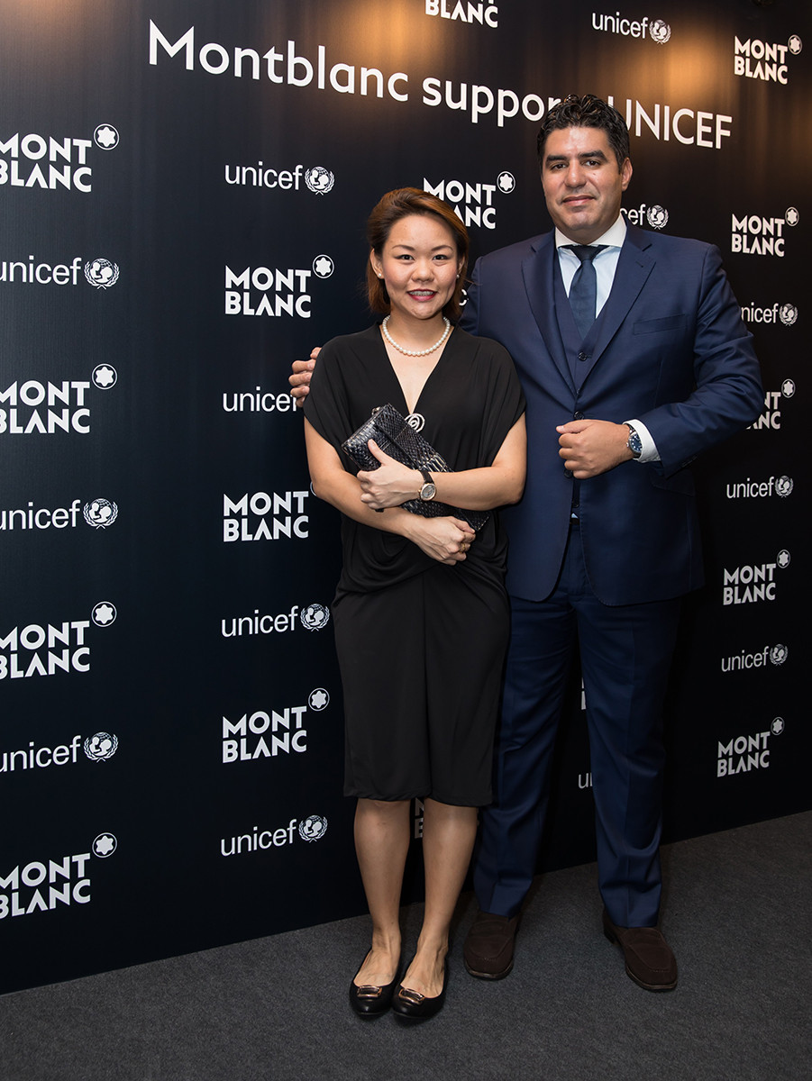 Montblanc Malaysia General Manager Grace Lim and Montblanc South East Asia Managing Director Anouar Guerraoui