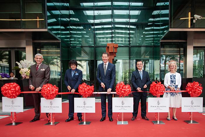 Opening of the Four Seasons Hotel Kuala Lumpur