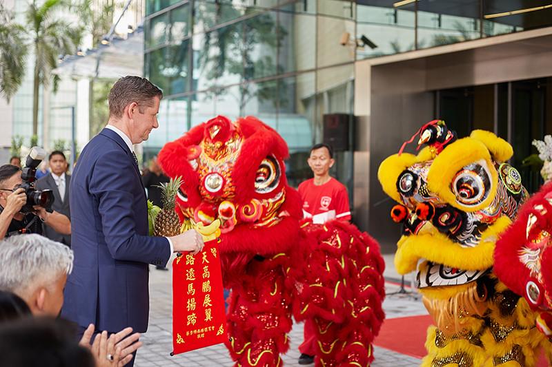 Tom Roelens at Four Seasons Hotel Kuala Lumpur Opening Ceremony