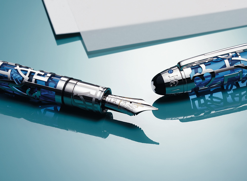 Montblanc Meistertück Writing is a Gift Skelaton 149 Edition Fountain Pen for UNICEF