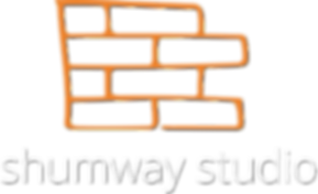 Shumway Logo Stacked White Text Trans w