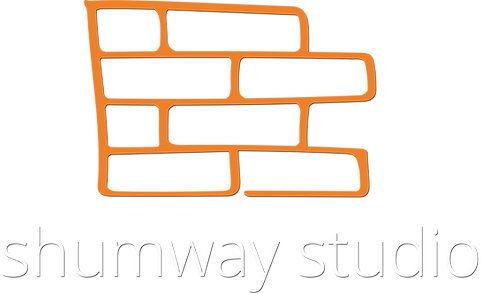 Shumway Logo Stacked White Text Trans w