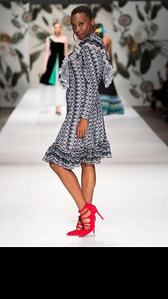 Knit Ruffle Dress