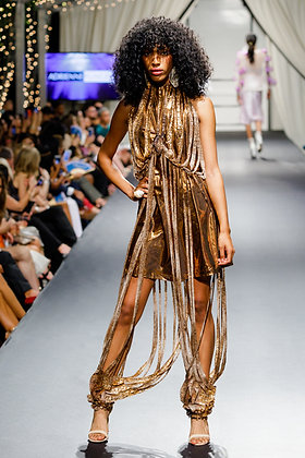 Copper Metallic Jumpsuit