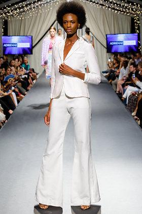 Halogram white satin Jacket