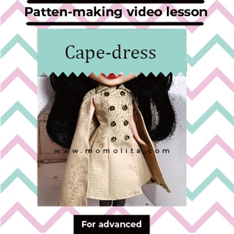 Doll dress pattern making for advanced #3 (Video)
