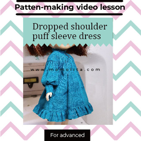 Doll dress pattern making for advanced #2(Video)