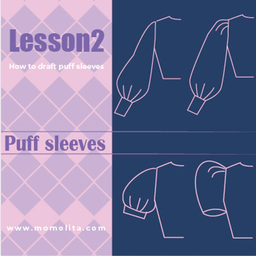 Doll dress pattern making lesson2 (Video)