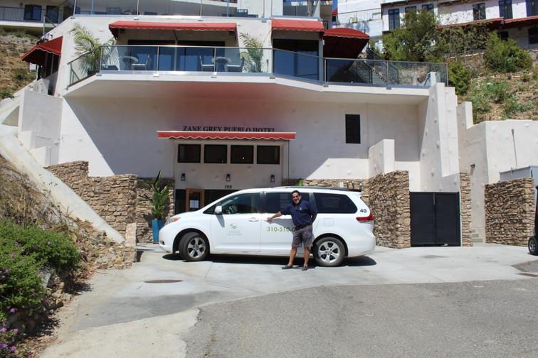 Hotel shuttle on Catalina