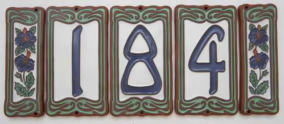 Arcadia house number tiles