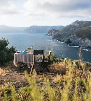 Sunset toast on Catalina