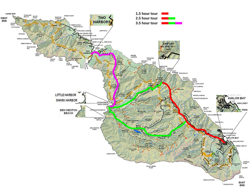 Map of Catalina Island