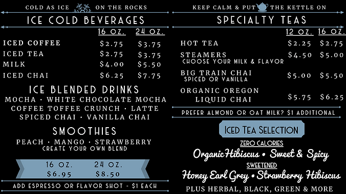 2020  Menu Board 3 - Ice & Tea with Hibi