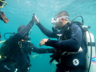 scuba instruction on Catalina Island