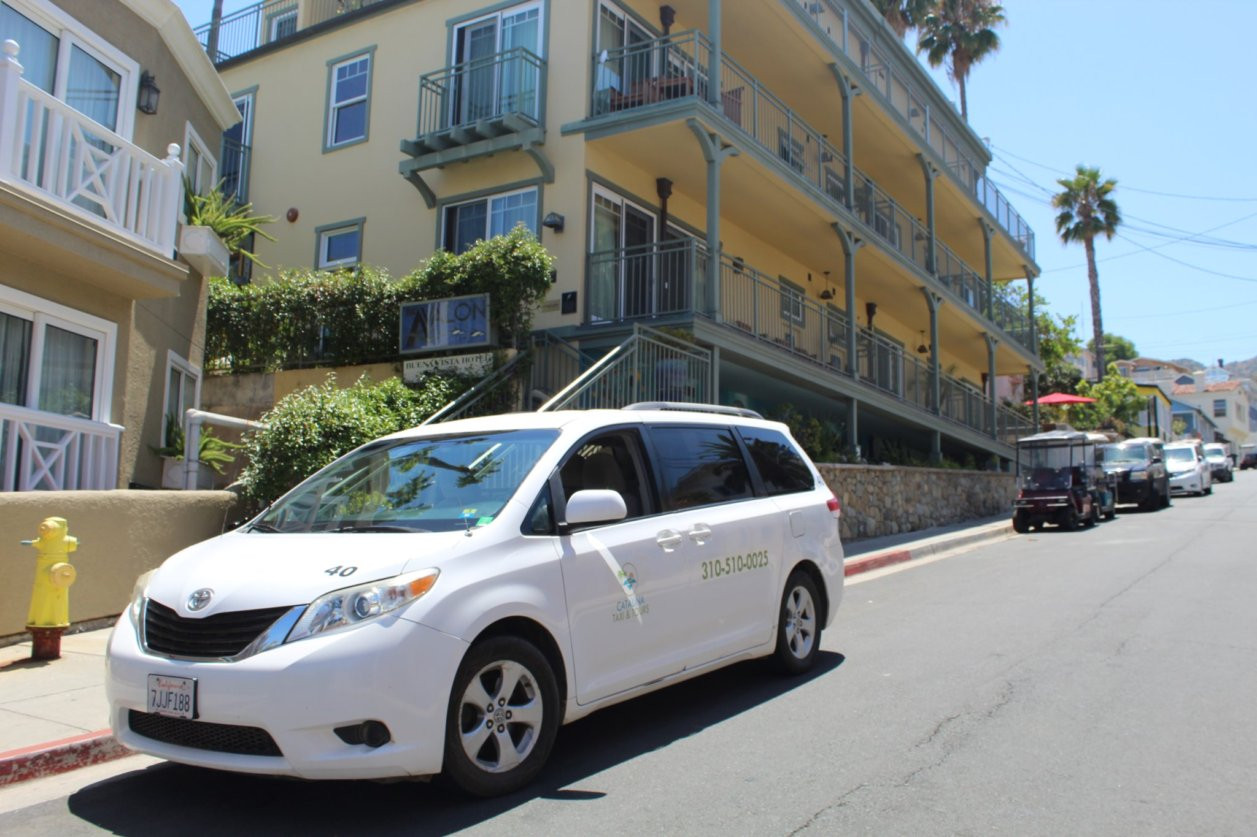Taxi cab service on Catalina