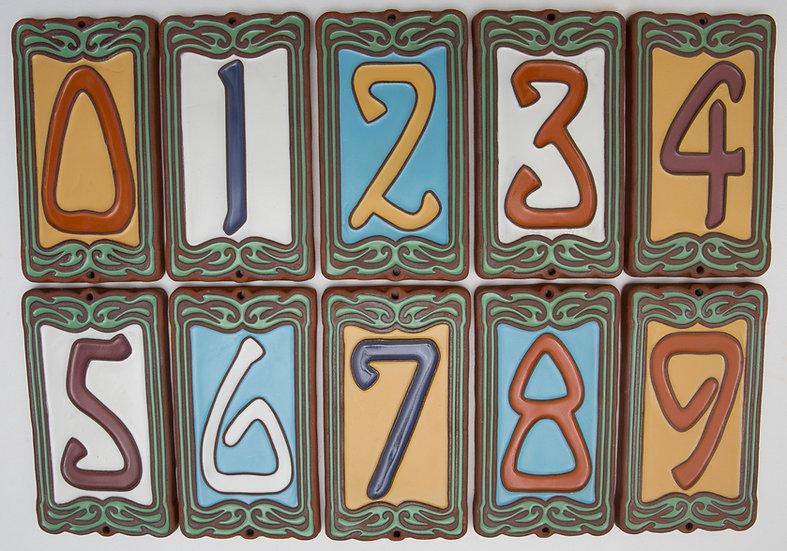 Arcadia tile house numbers