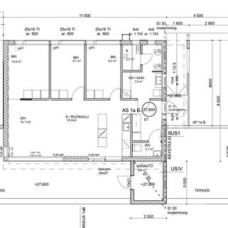 85 m2 pohjapiirustus