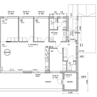 102 m2 pohjapiirustus