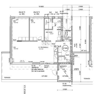 68 m2 pohjapiirustus