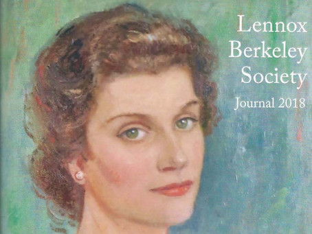 Lennox Berkeley Society publishes Interview in their 2018 Journal