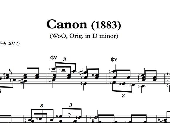 Alexander Scriabin | Canon (trans. Sowicz) (PDF)