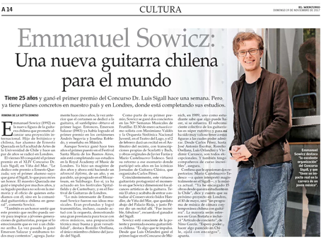 Interviewed published by El Mercurio
