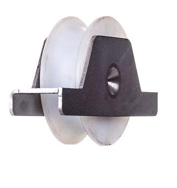 Polea nylon 60 R20 c/soporte
