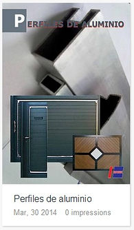 Catálogo Perfiles de aluminio.