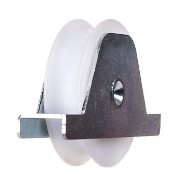 Polea nylon 80 R20 c/soporte