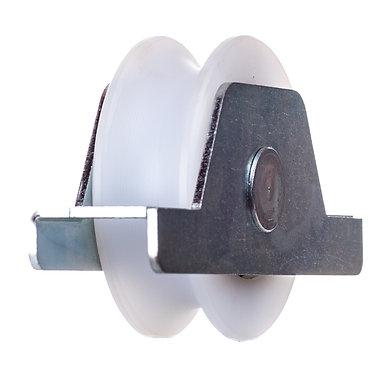 Polea nylon 100 R20 c/soporte