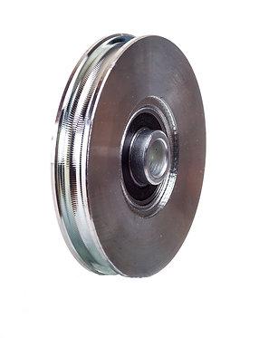 Polea cable c/casquillo de 100x17 galvanizada