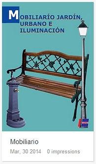 Catálogo Mobiliarío de jardín