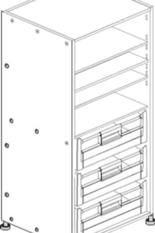 Pantry Cabinet 600 with Internal Drawers